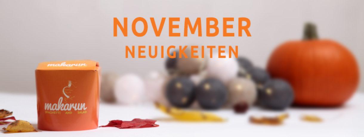 November-Neuigkeiten!